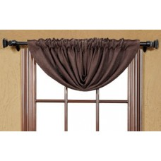 Burlap Chocolate Balloon Valance