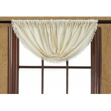 Tobacco Cloth Natural Balloon Valance