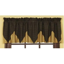 Kettle Grove Plaid Layered Valance