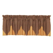 Patriotic Patch Plaid Layered Valance