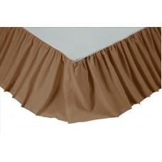 Solid Khaki Bed Skirt