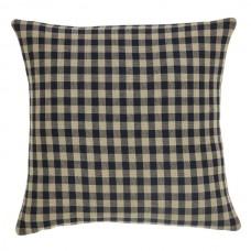Black Check Fabric Pillow