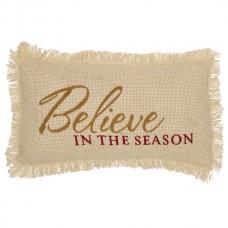Creme Burlap Believe in the Season Pillow