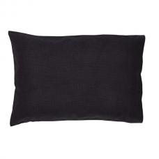 Burlap Black Pillow Case Set