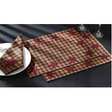 Burgundy Star Placemat
