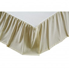 Creme Chambray Bed Skirt