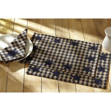 Navy Star Placemat Set