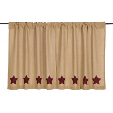 Burlap Burgundy Stencil Star Tier Set