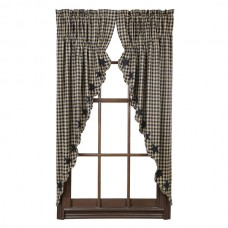 Black Star Prairie Curtain Set