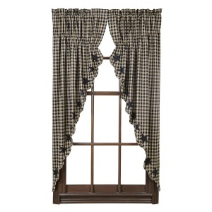 Black Star Prairie Curtain Set