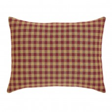 Burgundy Check Pillow 14x18