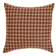 Burgundy Check Pillow 16x16