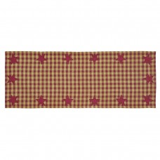 Burgundy Star Table Runner