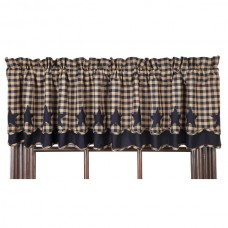 Navy Star Layered Valance