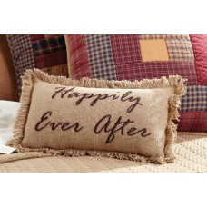 Burlap Natural Pillow Happily Ever After