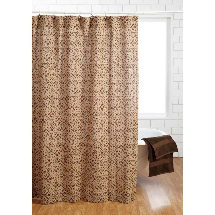Lewiston Printed Shower Curtain by VHC Brands