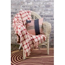 Clayton Red Woven Throw