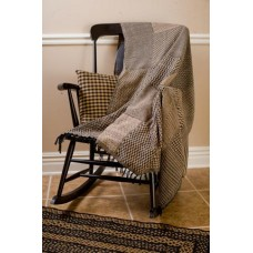 Sampler Black Tan Throw Woven